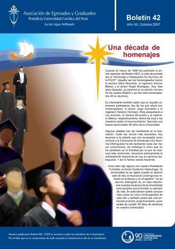 Boletín 42 - Pontificia Universidad Católica del Perú