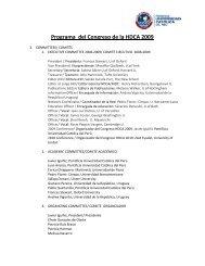Programa del Congreso de la HDCA 2009 - Pontificia Universidad ...