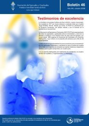 Testimonios de excelencia Boletín 46 - Pontificia Universidad ...