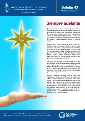 Siempre adelante Boletín 43 - Pontificia Universidad Católica del Perú