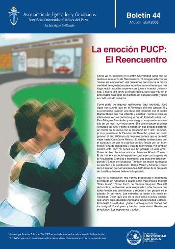 La emoción PUCP: El Reencuentro - Pontificia Universidad Católica ...