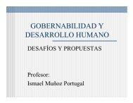 GOBERNABILIDAD Y DESARROLLO HUMANO