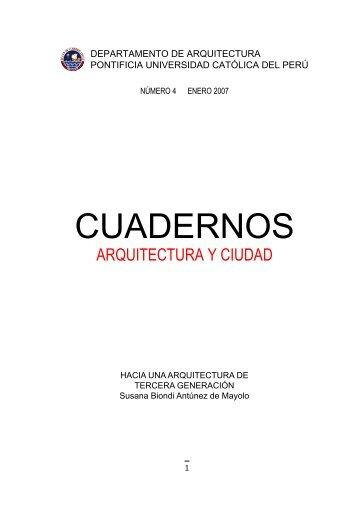 CUADERNOS - Pontificia Universidad Católica del Perú