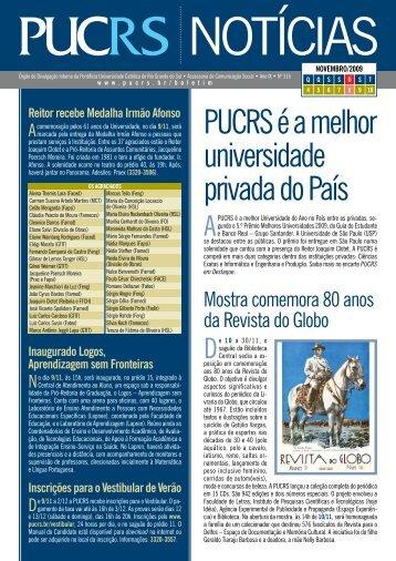 Edição 316 - de 04/11/2009 a 10/11/2009 - pucrs