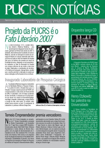Projeto da PUCRS é o Fato Literário 2007