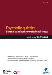 Psycholinguistics: Scientific and technological challenges - pucrs