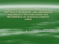 Desenvolvimento Sustentável e o Protocolo de Quioto - pucrs
