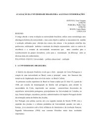 AVALIAÇÃO DA UNIVERSIDADE BRASILEIRA - Sociedade ...