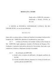 Resolução 03/2005 - pucrs