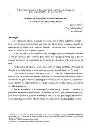 1 Formação de Professores e Processo de Bolonha - Sociedade ...