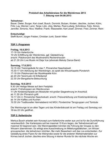 Weinkirmes 2013 Protokoll_07 - Gemeinde Pünderich an der Mosel