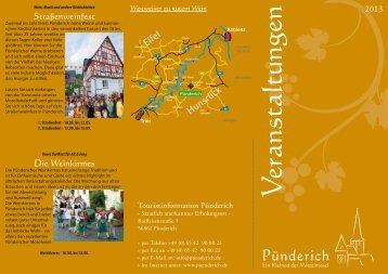 Flyer Veranstaltungskalender - Gemeinde Pünderich an der Mosel