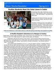 Asian Studies Newsletter Spring 2012 - University of Puget Sound
