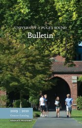 Bulletin - University of Puget Sound