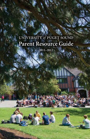Parent Resource Guide - University of Puget Sound