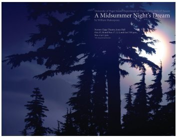 A Midsummer Night's Dream - University of Puget Sound