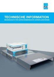 TECHNISCHE INFORMATION - PUK-WERKE KG Kunststoff ...