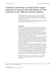 Continuous monitoring of central venous oxygen saturation in ...