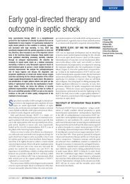 Early goal-directed therapy and outcome in septic shock - PULSION ...