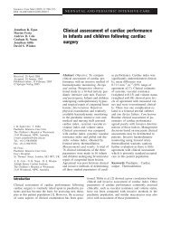 Clinical assessment of cardiac performance in infants and children ...