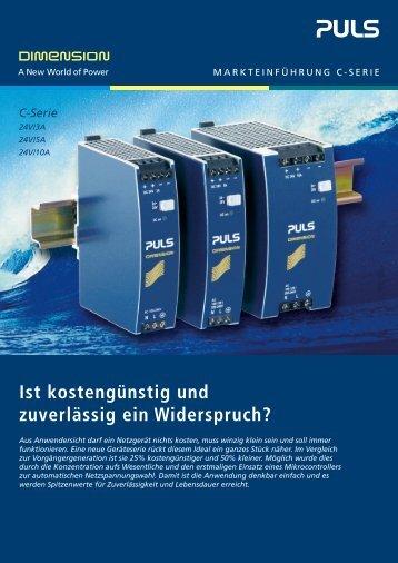 C-Serie - PULS GmbH