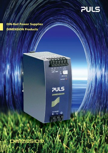 DIN-Rail Power Supplies DIMENSION Products