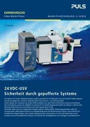 24VDC-USV Sicherheit durch gepufferte Systeme - PULS GmbH