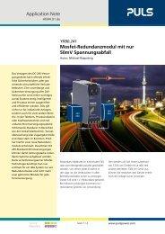 Mosfet-Redundanzmodul mit nur 50mV Spannungsabfall