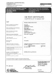 cover page for test report - PULS GmbH