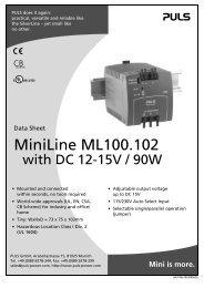 MiniLine ML100.102 - PULS GmbH
