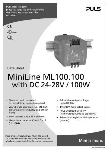 MiniLine ML100.100 - PULS GmbH