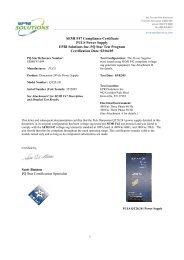 SEMI F47 Compliance Certificate PULS Power Supply EPRI ...