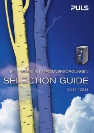 selection guide - PULS GmbH