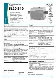SL20.310 - PULS GmbH