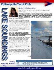 February - Pultneyville Yacht Club