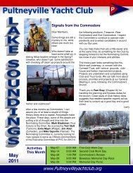 PYC Newsletter May 2011 - Pultneyville Yacht Club