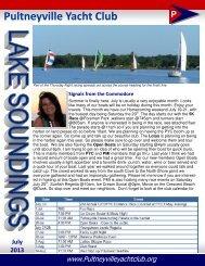 PYC Newsletter July 2013 - Pultneyville Yacht Club
