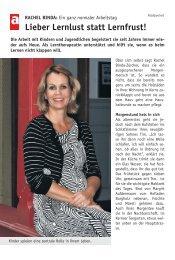 Publireportage LernArt, Rachel Binda-Zürcher
