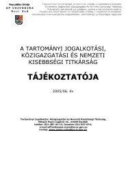 a tartományi jogalkotási, közigazgatási és nemzeti ... - Vojvodina