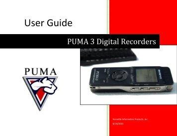 Puma3 User Guide - PUMA Recorders