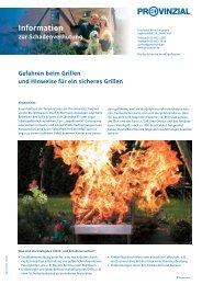 Merkbl. Gefahren beim Grillen - Freiwillige Feuerwehr Mildstedt
