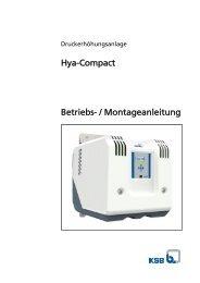 Hya-Compact Betriebs- / Montageanleitung - Pumpenscout.de