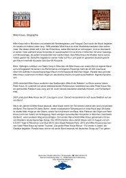 Mike Kraus - Biographie - Deutsches Theater