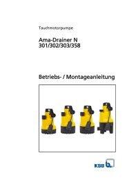 Ama-Drainer N 301/302/303/358 - Pumpenscout.de