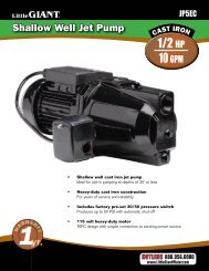 1/2 HP 10 GPM - Water Pumps Direct