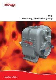Self-Priming, Solids-Handling Pump