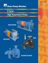 DEAN R Series - Pumps!