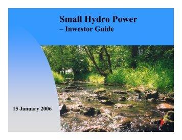 Presentation - Small Hydro Power Systems - Leonardo ENERGY