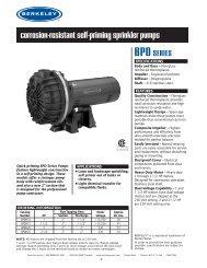 corrosion-resistant self-priming sprinkler pumps - Berkeley
