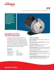 Threaded, Single-Stage, End-Suction Centrifugal Pump - Flowserve ...